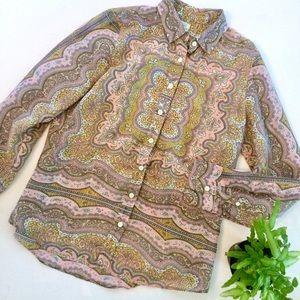 "🌵J. Crew silk/cotton paisley ""The Perfect Shirt"""